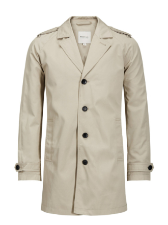 JACK & JONES Classic Trenchcoat Men Beige