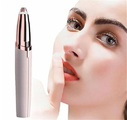 Rakado Mini Electric Eyebrow Trimmer Lipstick Shape Brows Pen Hair Remover Instant Painless Eye Brow Razor Epilator Portable 1PC