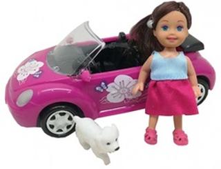 teenage pige Sød pige med bil og hund