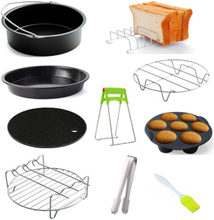 6 / 7 / 8 Inches Air Fryer Accessories Pizza Tray Grill Toast Rack Steam Rack Insulation Pad 3.2QT-5.8QT Home Kitchen Parts