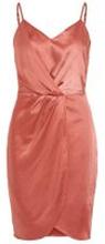 VILA Glansig Festklänning Kvinna Rosa