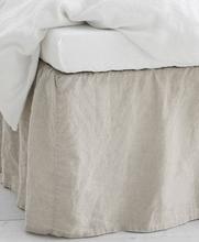 Studio Total Home Sengekappe Washed Linen Bedvalance 45cm Hvit