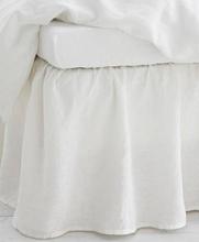Studio Total Home Sengekappe Washed Linen Bedvalance 45cm Grå