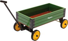 Baghera - Dragvagn- Green Wooden Wagon