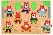 Djeco - Wooden Puzzle, Foxymatch