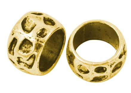 Metallrondell, antique guld - 5st