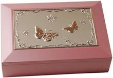 Dacapo Silver - Smyckeskrin Rosa Trä Med Speldosa