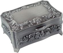 Dacapo Silver - Smyckeskrin Med Rosdekor