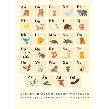 Wallflower - ABC poster - Bokstäver