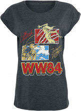 Wonder Woman - 1984 - The Cheetah Vs Wonder Woman -T-skjorte - mørkegrå melert