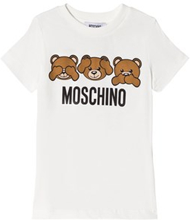 Moschino Kid-Teen White Three Bears Print Tee 10 years