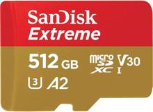 SanDisk Extreme microSDXC Class 10 UHS-I U3 V30 A2 160/90MB/s 512GB