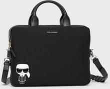 Karl Lagerfeld K/Ikonik Laptop Sleeve w Strap