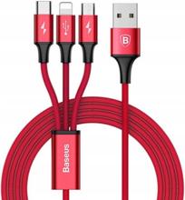 Kabel USB - Lightning/Micro USB/USB Typ-C BASEUS CAMLT-SU09 1.2 m Czerwony