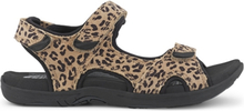 Green Comfort Sandal Corsica Suede Sand Leopard