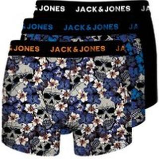 JACK & JONES Junior 3-pack Med Sugar Skull-prydda Kalsonger Man Blå
