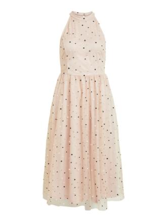 VILA Halter Neck Dress Women Pink