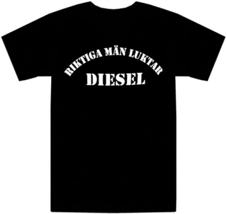 T-shirt Riktiga Män Luktar Diesel L