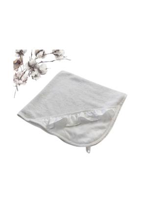 Badelagen, hvid med flæse - Ellos