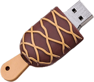 Usb-minne 16 gb - glass brun / gul