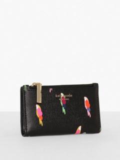 Kate Spade New York Sylvia Flock Party Small Slim Bifold Wallet Punge