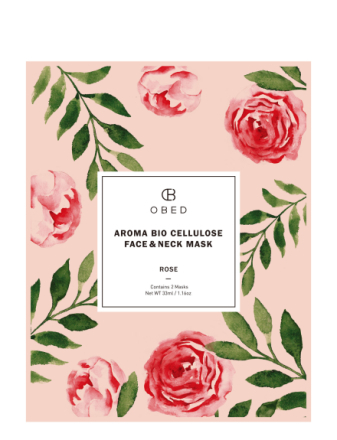 Aroma Bio Cellulose Face & Neck Mask Rose