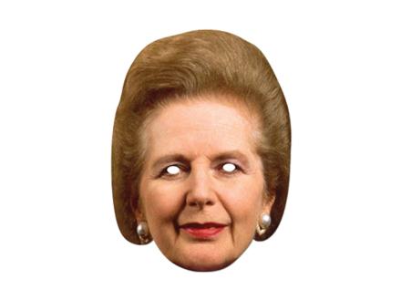 Pahvinaamarit Margaret Thatcher