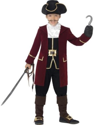 Piratkapten Maskeraddräkt Barn Medium