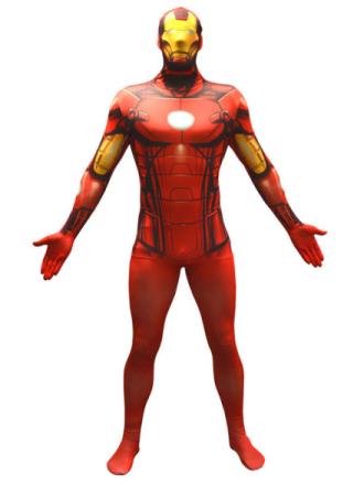 Iron Man Morphsuit Maskeraddräkt Large