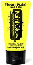 UV Ansikts & Kroppsfärg Gul - 50 ml