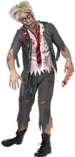 Zombie Skolpojke Maskeraddräkt Large