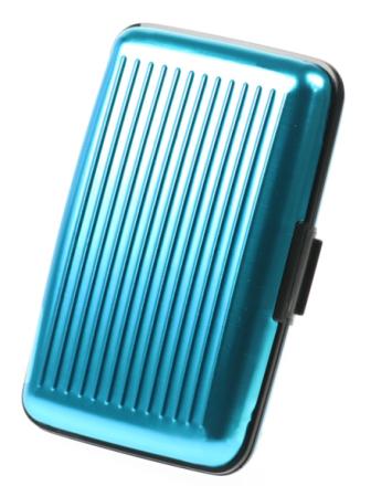 Metallplånbok Ljusblå