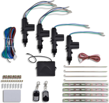 vidaXL Centrallås för fordon inkl. 2 fjärrkontroller 12V