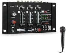 DJ-21 BT DJ-Mixer mixerbord set Bluetooth USB mikrofon svart