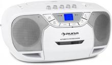 BeeBerry Boom Box Ghettoblaster Radio CD/MP3-Player Kassettbandspelare Vit