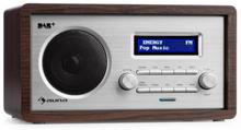 Harmonica DAB+/FM - radio dubbel-alarm AUX LCD trähölje wenge