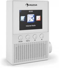"Digi Plug Eluttag Internetradio 2,4"" TFT App-Styrning WiFi vit"