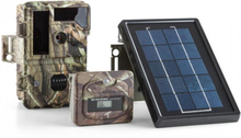 DURAMAXX Solar Grizzly Wildkamera Set Svart LED HD 8 MP Solar-Panel