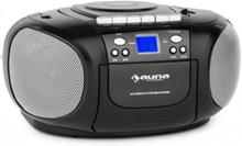 BoomBoy Ghettoblaster Radio CD/MP3-Player Kassettbandspelare Svart