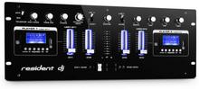 DJ405USB 4-kanal-DJ-mixer 2 x Bluetooth USB SD AUX inspelningsfunktion