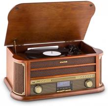 Belle Epoque 1908 DAB Retro-Stereoanläggning Skivspelare DAB+ Bluetooth