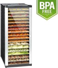 Fruit Jerky 18 torkautomat 1000W 18 hyllplan i rostfritt stål svart