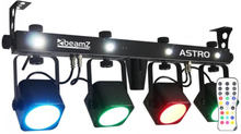 LED ASTRO PARBAR 4-vägs Kit COB LED 4 x 10W DMX inkl. fotpedal