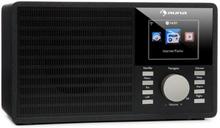 "IR-160 Internetradio WLAN USB AUX UPnP 2.8"" TFT-Display Fjärrkontroll Svart"
