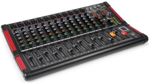 PDM-M1204 Music Mixer 12 Mikrofoningångar Multi FX-Processor