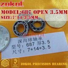 ZOKOL bearing 687zz 687ZZ P5Z4 687 OPEN Miniature Deep Groove ball bearing 7*14*3.5mm 7*14*5mm