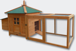 Hønsehus med hønsegård model Oreo