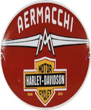 Emaljeskilt Aermacci Harley-Davidson