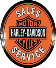 Emaljeskilt Harley-Davidson