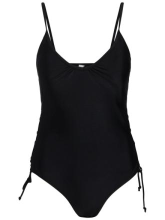 PIECES Solid Swimsuit Women Black